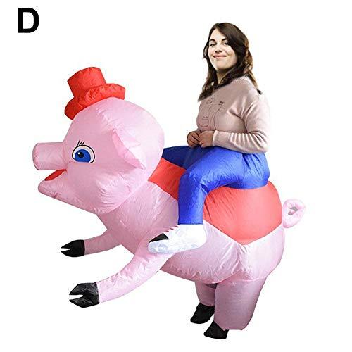 Kostüm Aufblasbare Lustige Rote - Aufblasbares Tierkreis-Schwein für Erwachsene und Kinder, das lustiges Kostüm für Innen und Außen kleidet