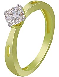 MUCH MORE Amarican Diamond Gold Plated Fahion Ring For Women's