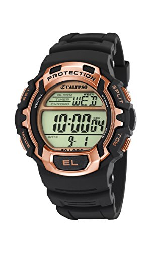 Price comparison product image Calypso Men's Digital Watch with LCD Dial Digital Display and Black Plastic Strap K5573 / 8