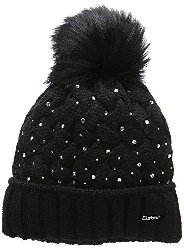 Eisbär Damen Alice Lux Crystal Mütze, AF schwarz, One Size