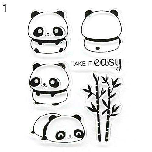 Huhuswwbin Stanzschablone aus Metall, Cute Panda DIY Stempel Karte Album Scrapbook Dekor Pr?geschablone Stanzform - Stempel