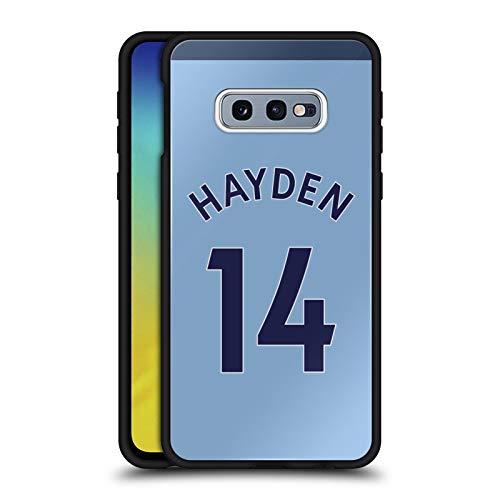 Head Case Designs Offizielle Newcastle United FC NUFC Isaac Hayden 2017/18 Spieler Away Kit Gruppe 2 Schwarze Hybride Glas Rueckseiten Huelle kompatibel mit Samsung Galaxy S10e -