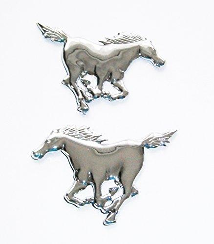 AUTOAUFKLEBER 3D Chrom Deko Aufkleber Emblem Tattoo Schriftzug Auto Sticker (Mustang)
