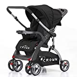 Best Dual Strollers - Crown ST530 Buggy Stroller Dual-way Black Review