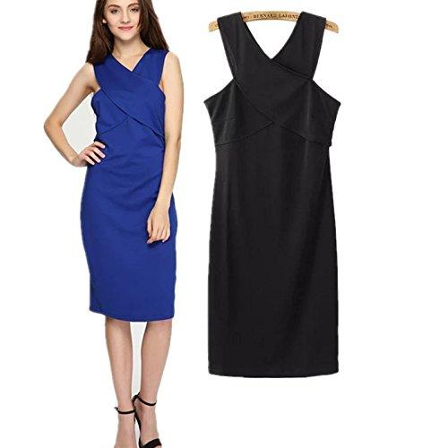 YLSZ-The Skirt Summer Western Sleeveless Back Pack And Long Skirt Women, Blue M Black M