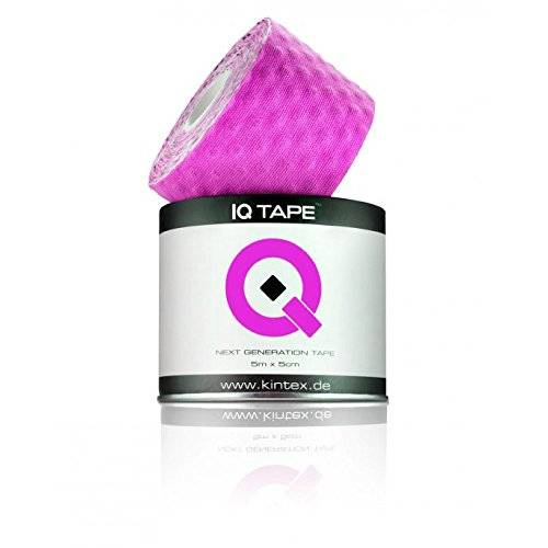 IQ Tape 5cm x 5m inkl. Anleitung und Fixierring (Pink)