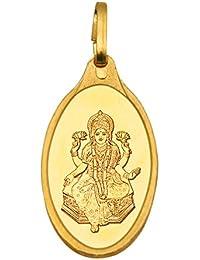 Kundan Lakshmi 24k(999.9) Yellow 2.7 gm Gold Pendant
