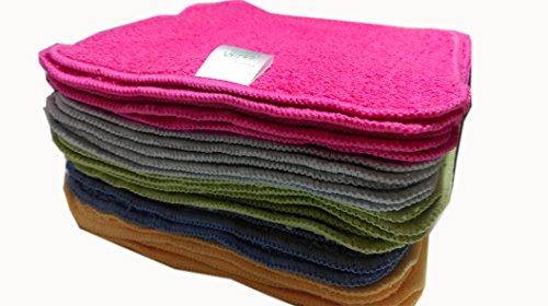 Rainbow - Toalla de algodón para bebé, lavable, reutilizable, 25 unidades