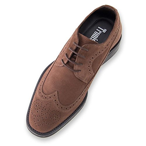 Masaltos Chaussures Réhaussantes Pour Homme avec Semelle Augmentant la Taille JusquÀ 7cm. Fabriquées en Peau. Modèle Preston Marron