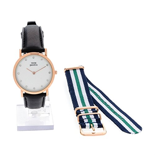 ladies-think-positiver-model-se-w96-flat-medium-steel-rose-watch-strap-in-black-leather-made-in-ital