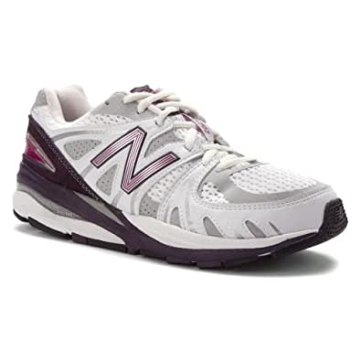 New Balance - Womens 1540 Motion Control Running Shoes, UK: 5 UK - Width 2A, White with Purple