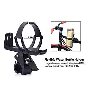 Uarter Portabidón de bicicleta Ajustable Portabidón para bicicleta Botella Jaula Estante Cochecito Para MTB