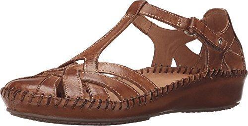 Pikolinos Womens Puerto Vallarta 655-0732C1 Leather Sandals Marrone (Brandy)