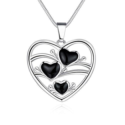 XUHUZI Halskette Die Kette Anhänger Halsbänder Der Kragen Kragen Anhänger Halskette Hohle Romantik Tropf Herz Ms. (Snake Eyes Kostüme Erwachsenen)