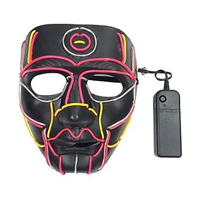 Máscara de Halloween Chshe®-Halloween, La Máscara Divertida de La Máscara Led Máscara Máscara Iluminada Para Juguetes de Halloween Cosplay por CHshe(TM)