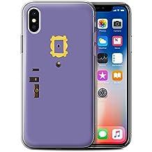 Stuff4 Gel TPU Phone Case/Cover for Apple iPhone X/10/Monica's Purple Door Design/Funny Sitcom TV Parody Collection