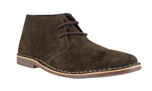 Red Tape Gobi Herren aus echtem Wildleder Lace Up Casual Desert Boots Braun