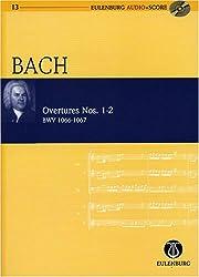 Johann Sebastian Bach: Ouvertüren (Orchestersuiten) 1-2, Edition Eulenburg Audio+Score: Studienpartitur + Audio-CD (Noten + Musik).