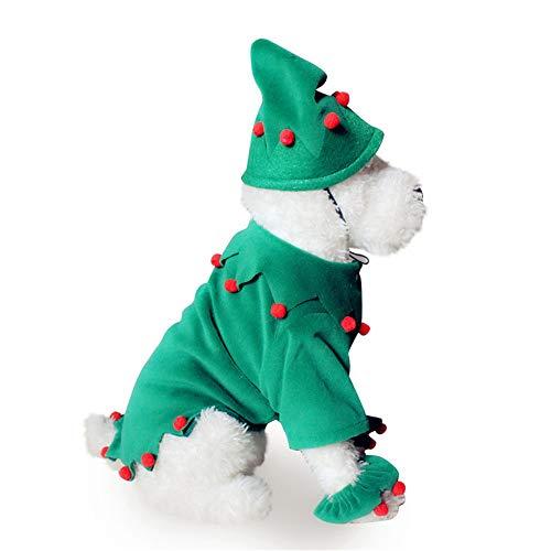 Alte Geist Kostüm - BUHUW Halloween Cosplay KostüM Haustier Geladener Weihnachtshund des Alten Mannes Kleidet Die Halloween-Haustierkleidung, Die Zu EIN HexenkostüM Gemacht Wird