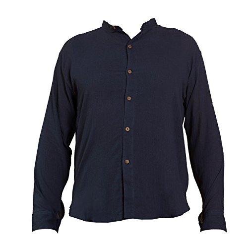 PANASIAM Sommer Hemden aus wohlig weicher, 100% reiner Naturbaumwolle Shirt 6button BLUE