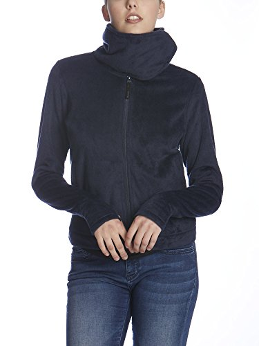 Navy Blue Jacke Fleece (Bench Damen Fleecejacke DIFFERENCE, Gr. Medium, Blau (Dark Navy Blue NY031))