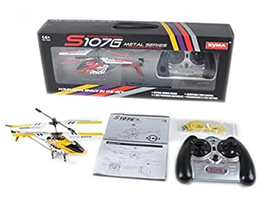 Syma RC helicopter, 3-channel, infrared with gyroscopes system, blue, item model number: S107G