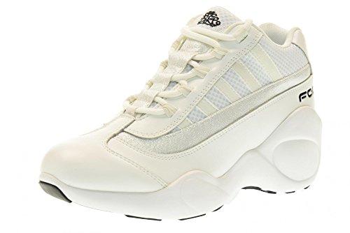 FORNARINA scarpe donna sneakers con zeppa PE17UP1183V009 BIANCO Bianco