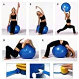#7: Jannat Anti-Burst Gym Ball with Foot Pump, Exercise Ball 75 cm (Multi Color)
