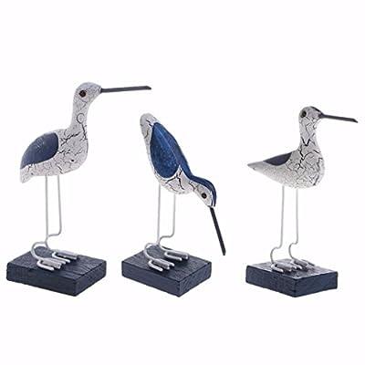 Homyl 3pcs Holzvogel Dekovogel Dekofigur Möwe Modell Desktop Ornament von Homyl
