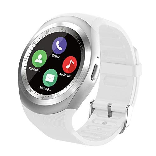 SEPVER Smartwatch Smart Watch Rund mit SIM-Karte Slot Touchscreen Fitness Uhr Intelligente Armbanduhr Fitness Tracker Sport Uhr Kompatibel mit Android Phone iPhone für Damen Herren Kinder (Weiß)