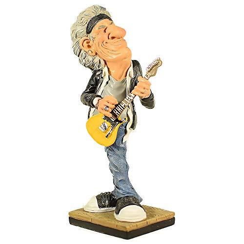 UniqueGift Warren Stratford Rock Star Gitarrist Sammlerfigur - 17,8 cm Polyresin-Figur - witzig Aussehende, Humorvolle Figur -