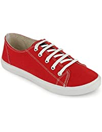 Scantia Perfect Stylish Red Sneaker Shoes for Women
