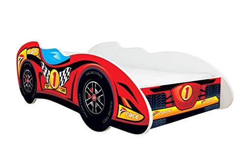 Topbeds - Cama infantil, diseño coche de carreras F1, colchón incluido, 160 x 80 cm