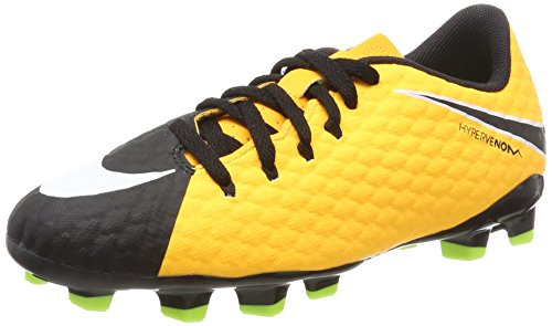 Nike Unisex-Kinder Hypervenom Phelon III FG JR 852595 801 Fußballschuhe, (Laser Orange Black-Volt), 36.5 EU