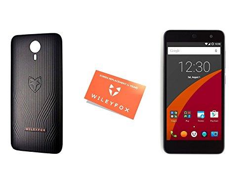 Wileyfox Swift 4G Dual-SIM Smartphone (5,0 Zoll (12,70 cm) Display, 16 GB Speicher, Cyanogen OS 12.1) Sandstein-Schwarz + Gutschein für Reparaturservice bei Displayschadenwith + Hülle