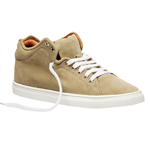 TEDISH Chaussures Femme Confortable Lacets Plat de Marche Cuir Outdoor Loisirs Dames Baskets Mode-TD003 Claire Weeping Willow