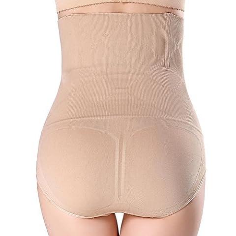 Bristoll Shapewear Minimizing Hi-Waist Boyshort Body Shaper Brief Cincher - Taille XL / XXL (Khaki)