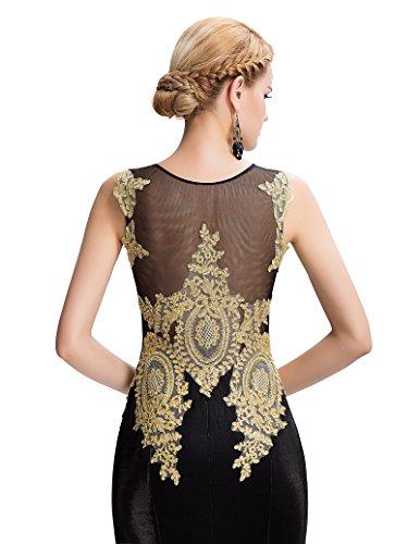 Grace Karin Etui Meerjungfrau Langes Ballkleid Abendkleid GK026 Schwarz