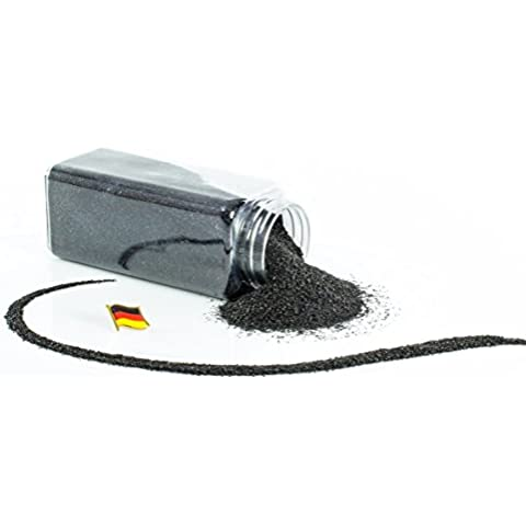 Arena de color / Arena decorativa TIMON, negro, 0,1 - 0,5 mm, 605 ml bote, Producido en Alemania - Tierra artificial -