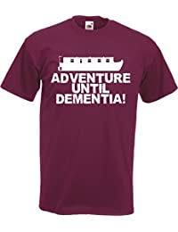 Adventure Until Dementia Canal Narrow Boat T-Shirt TShirt Funny Gift Captain