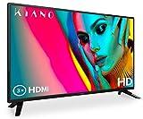 """Kiano Slim TV 32"""" Pouces [80 cm, Triple Tuner, DVB-T2, CI, CI+] Lecteur Multimédia Via Port USB Téléviseur 32 Pouces (PVR, Dolby Audio, Triple HDMI, 8.5 ms, LED, Direct LED, HD) Classe énergétique A"""