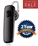 Lambent K1 Wireless Bluetooth Headset with Built in Mic for Handsfree Calling, Soft