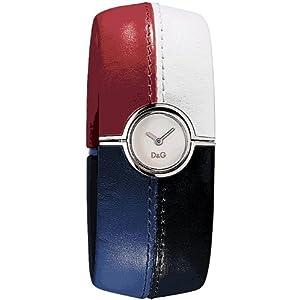 Dolce & Gabbana ES SLV DIAL Red/WTE/Blue/BLK Bangle DW0436 – Reloj de Mujer de Cuarzo, Correa de Piel Color