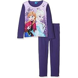 Disney Frozen Butterfly Conjuntos de Pijama, Morado (Purple Myrtille), 5 años para Niñas