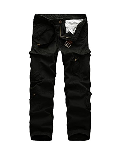 AYG Cargo Hose Herren Mens Cargo Pants(black,40)