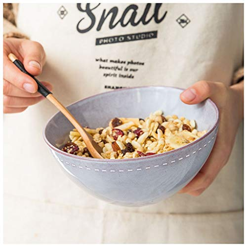 CJW Bol à nouilles en céramique rond nordique - nouilles/dessert/salade/légume vaisselle 4.2 à 6.5 pouces (Color : Purple, Taille : 16cm)