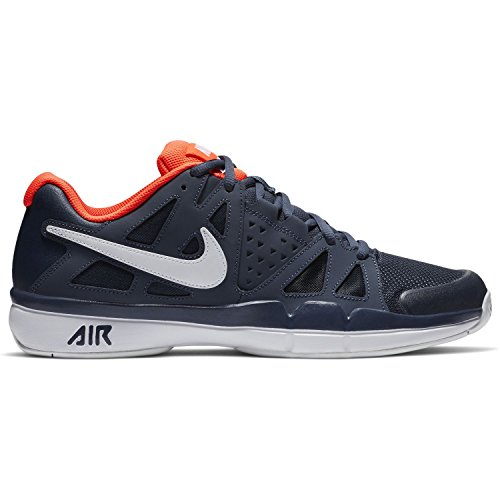 size 40 7d234 c3e8a Nike Herren Court Air Vapor Advantage Dunkelblau Textil Synthetik  Tennisschuhe 38,5
