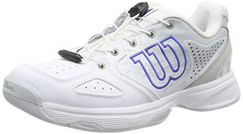 Wilson Kaos Junior Ql, Scarpe da Tennis Unisex-Bambini, Bianco Chiaro/Blu, 39 EU
