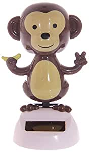 Puckator FF25 Solar-Powered Dancing Monkey Ornament 6.5 x 6 x 10 cm