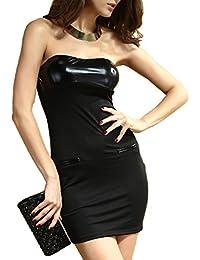 86cdfc88e203 ABILIO - vestito fascia donna abito bandeau sera vestitino donna vestito  bustier nero